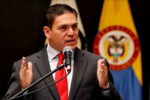 ministro colombiano de Defensa, Juan Carlos Pinzón,