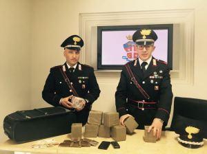 Carabinieri sequestrano hashish